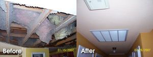Water Damage Ceiling Repair and Restoration