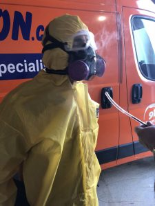 Sewage Cleanup Technician At 911 Restoration Headquarters
