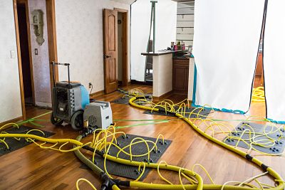 Air Movers and Purifiers Being Used During the Fire Damage Restoration