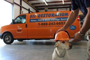 Water Damage Restoration Vehicle At 911 Restoration Headquarters