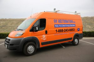 Fire Damage Restoration Vehicle