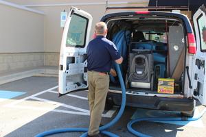 911-restoration-Sewage Restoration Van-and-equipment-Reno
